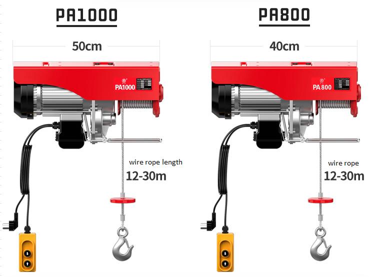 PA mini electric wire rope hoist (7)